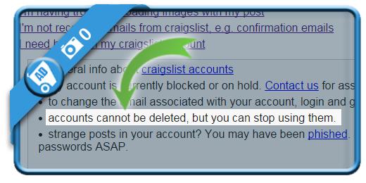 delete craigslist account 0