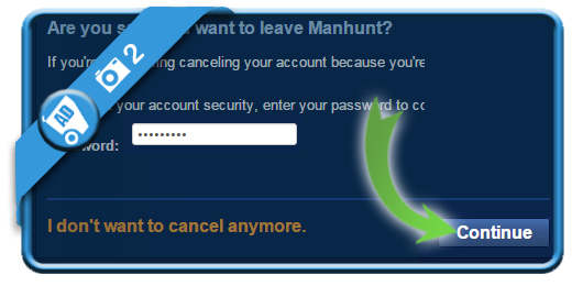 delete manhunt account 2