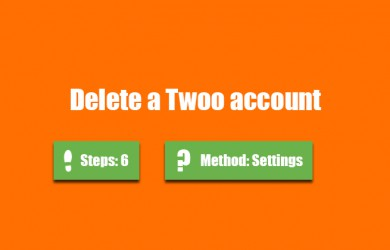 how to delete twoo account