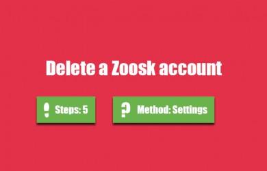 delete zoosk account