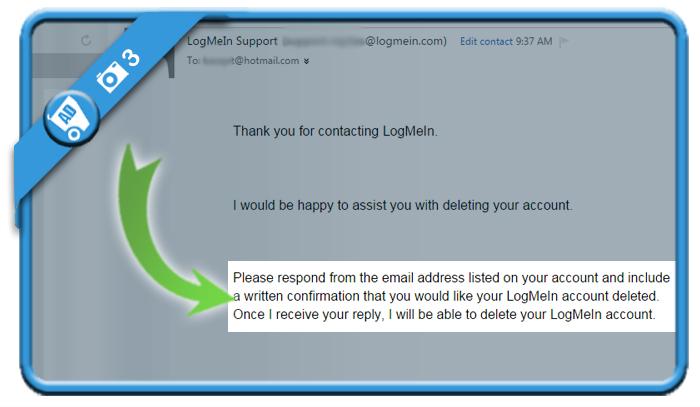 delete LogMeIn account 3