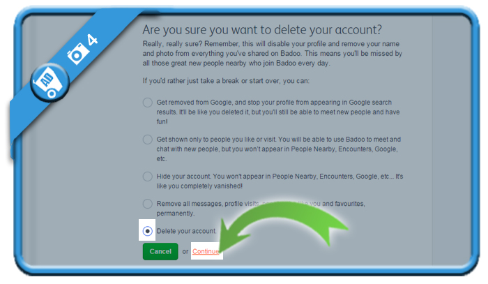 delete badoo account 4