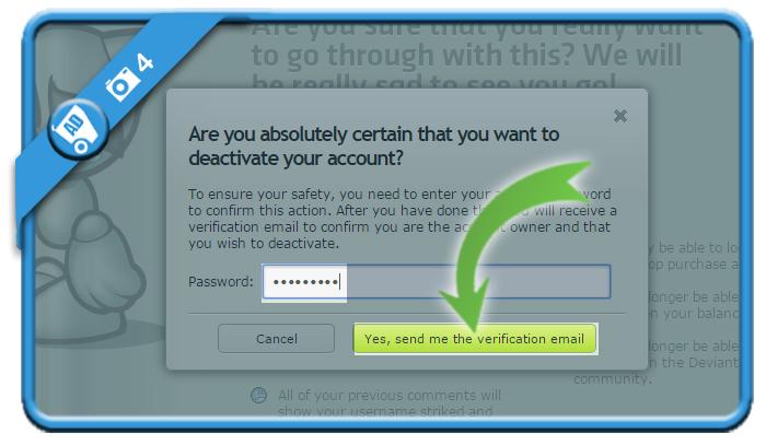 delete deviantart account 4