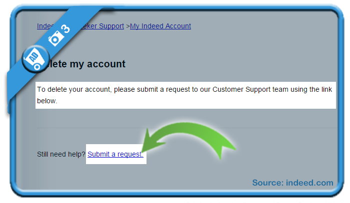 delete indeed account 3