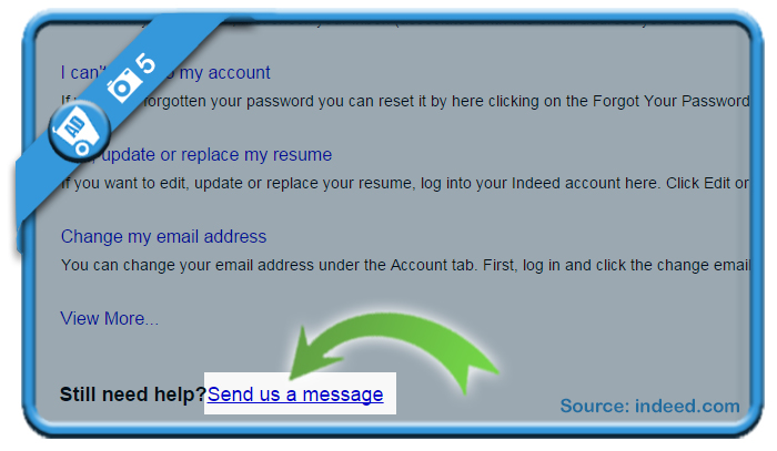 delete indeed account 5