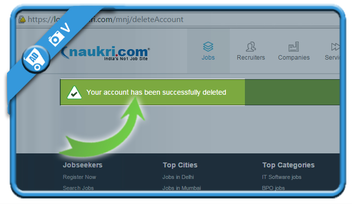 delete naukri account 4