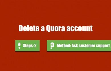 delete quora account 0
