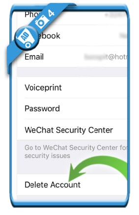 delete wechat account 4
