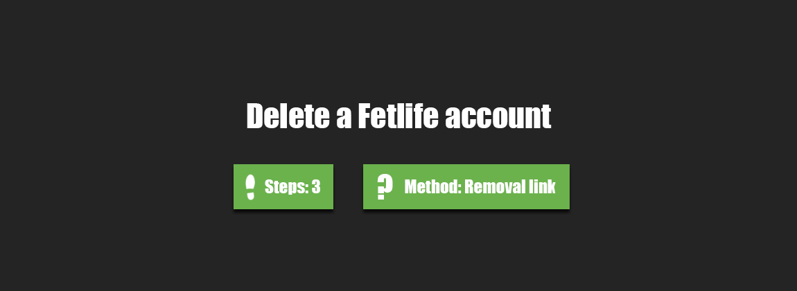 How to delete my fetlife account