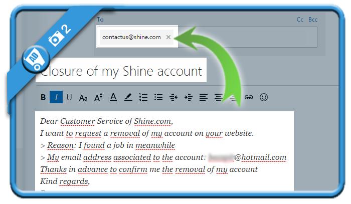 delete shine account 2