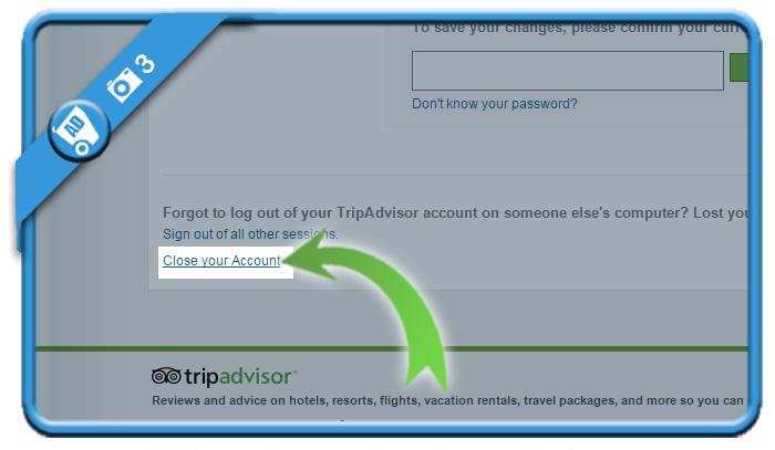 delete tripadvisor account 3