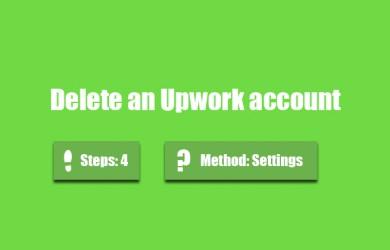 delete upwork account 0
