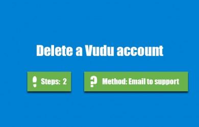 delete vudu account 0