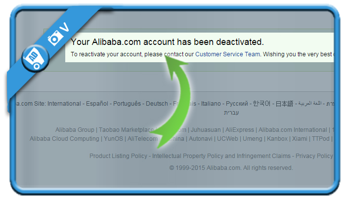 delete alibiba account 4