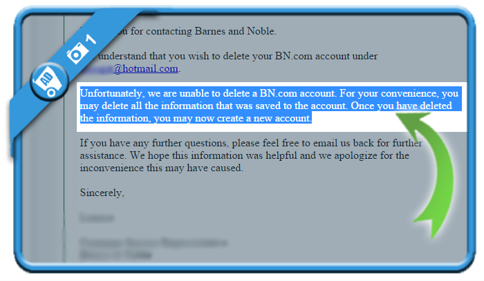 delete bandn account 1
