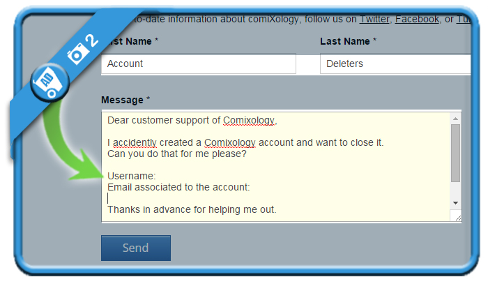 delete comixology account 2