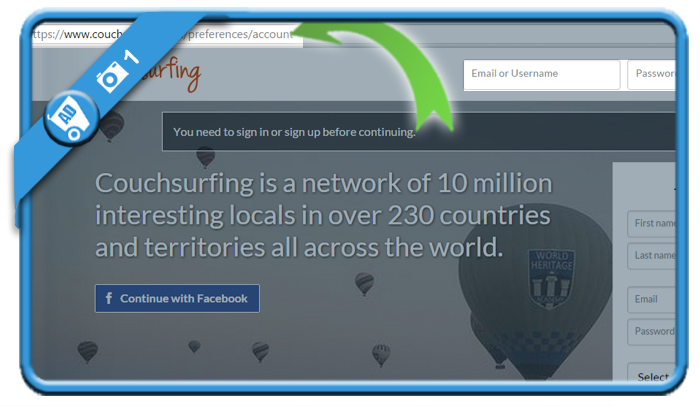 delete couchsurfing account 1