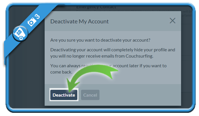 delete couchsurfing account 3