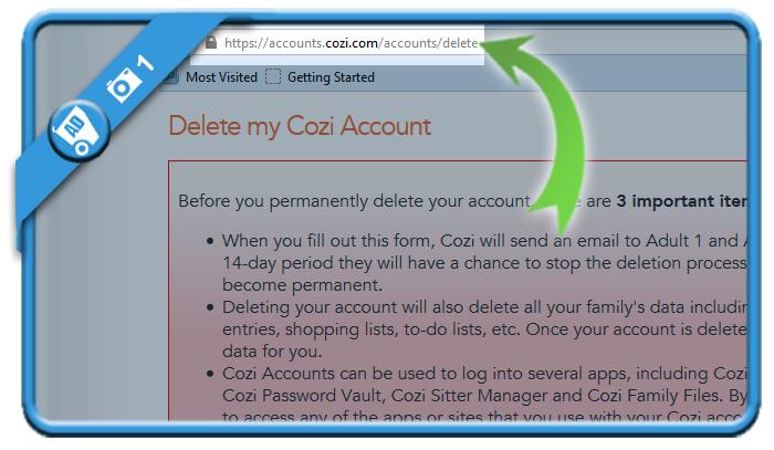 delete cozi account 1