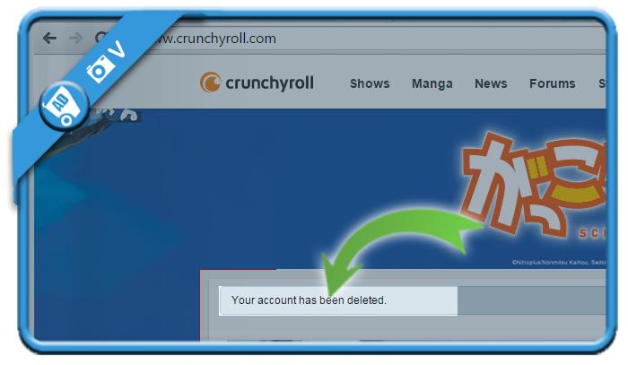 delete crunchyroll account 3