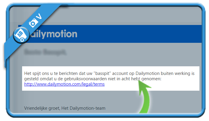 delete dailymotion account 2