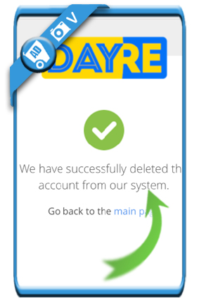 delete dayre account 5a