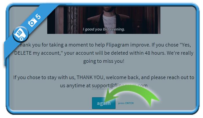 delete flipagram account 5
