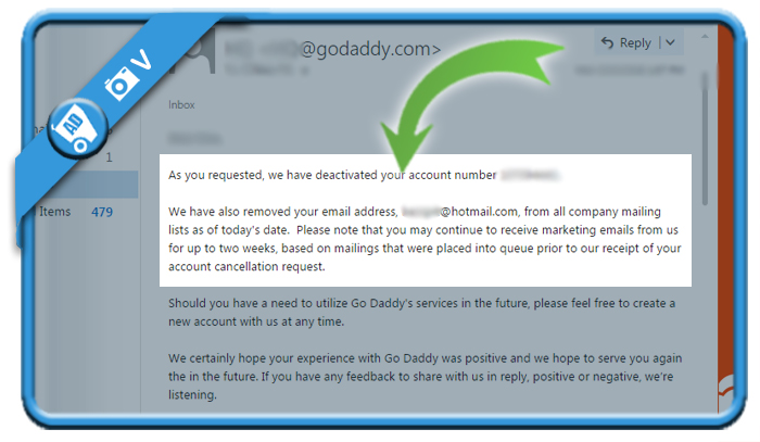 delete godaddy account 2