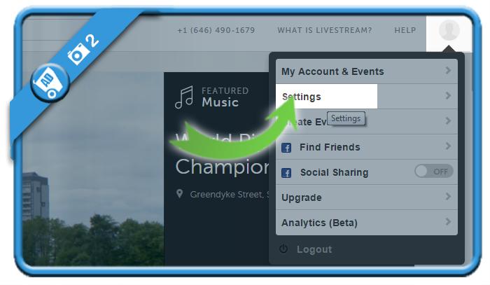 delete livestream account 2