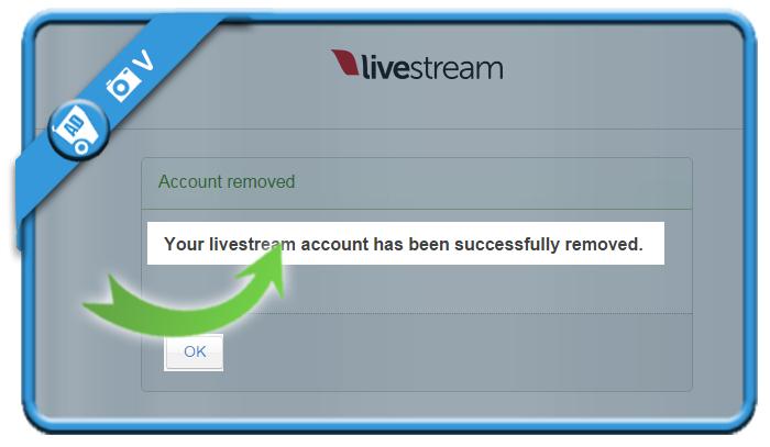 delete livestream account 5