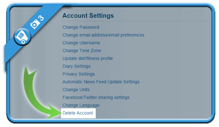 delete myfitnesspal account 3