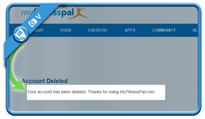 delete myfitnesspal account 5