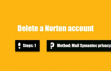 delete norton account 0