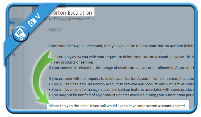 delete norton account 2