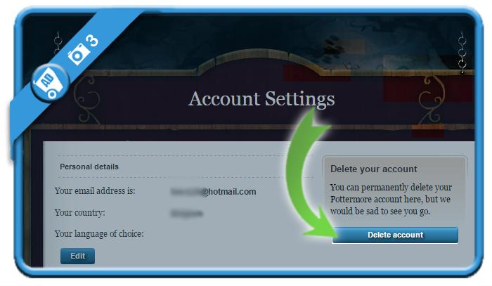 delete pottermore account 3