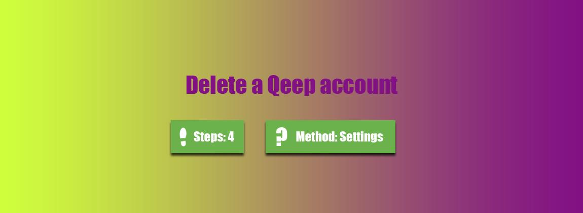 how to delete qeep account