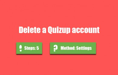 delete quizup account 0
