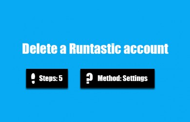 delete runtastic account 0
