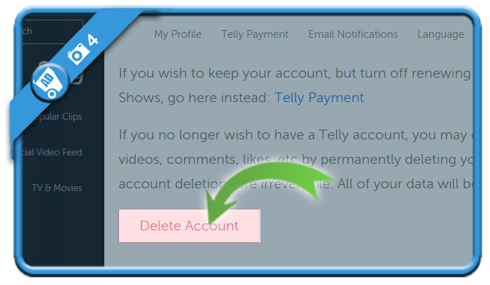 delete telly account 4