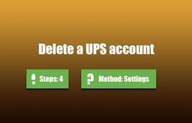 delete ups account 0