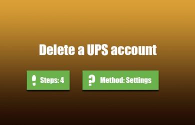 delete ups account 0