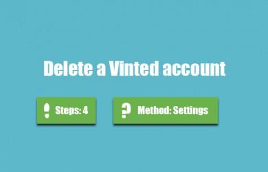 delete vinted account 00