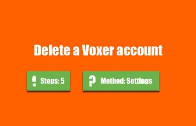 delete voxer account 0