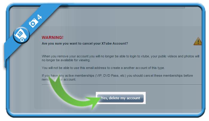 delete xtube account 4