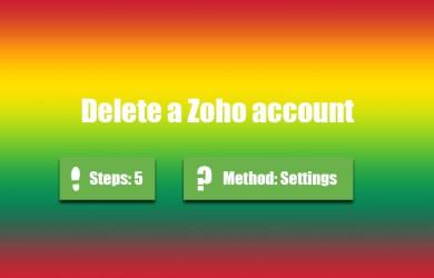 delete zoho account 0