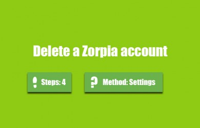 delete zorpia account 0