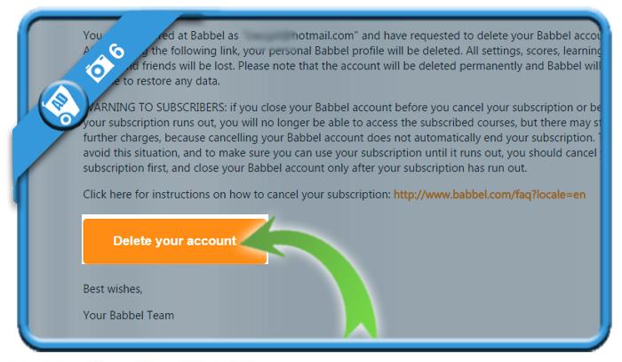 delete babbel account 6