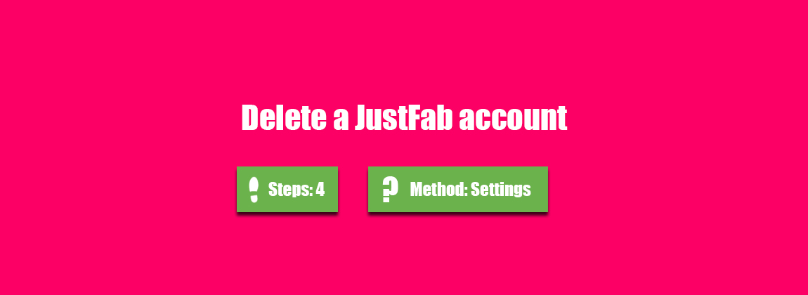 how to delete my justfab account