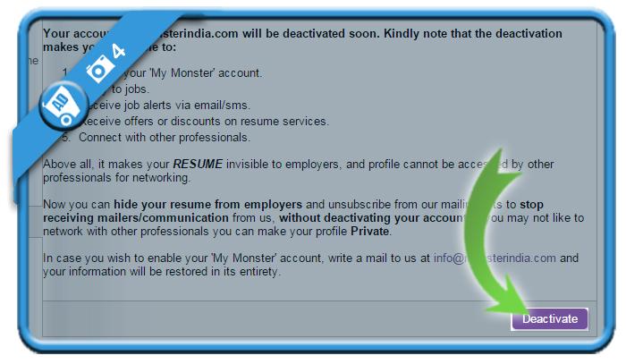 delete monsterindia account 4
