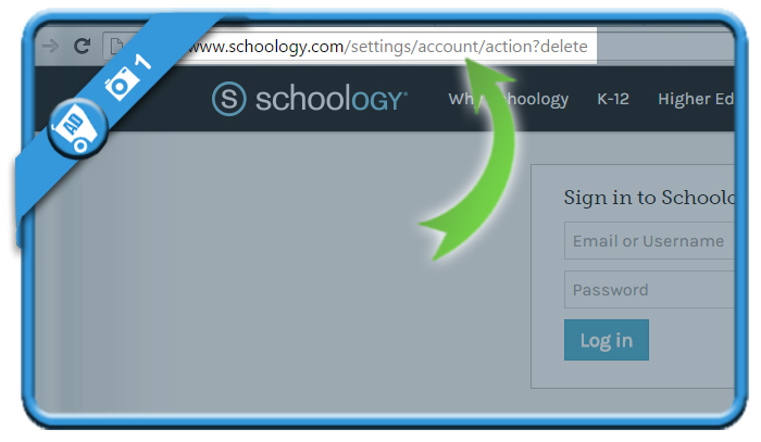 delete schoology account 1